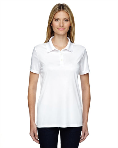 Ladies 4 oz. Cool Dri® with Fresh IQ Polo - WHITE / S - Hanes 00078715455392