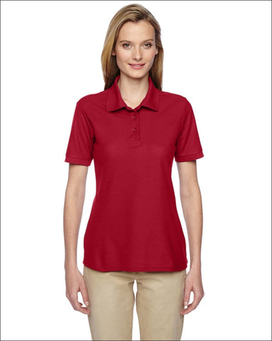 Ladies 5.3 oz. Easy Care Polo - TRUE RED / M - Jerzees 885306326661