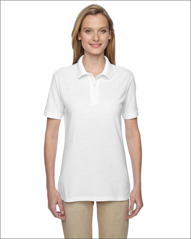 Ladies 5.3 oz. Easy Care Polo - WHITE / S - Jerzees 885306326531