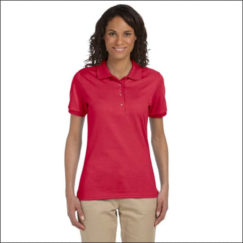 Ladies 5.6 oz. SpotShield Jersey Polo - TRUE RED / S - Jerzees 00042463463268