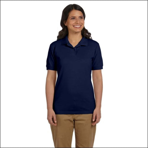 Ladies 6.8 oz. Piqué Polo - NAVY / 3XL - Gildan 00821780009852