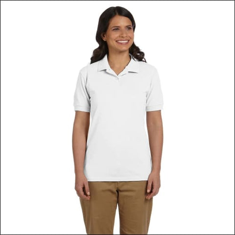 Ladies 6.8 oz. Piqué Polo - WHITE / 2XL - Gildan 00821780010053