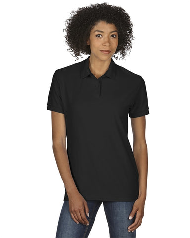 Ladies 6 oz. Double Piqué Polo - BLACK / 2XL - Gildan 00821780026445
