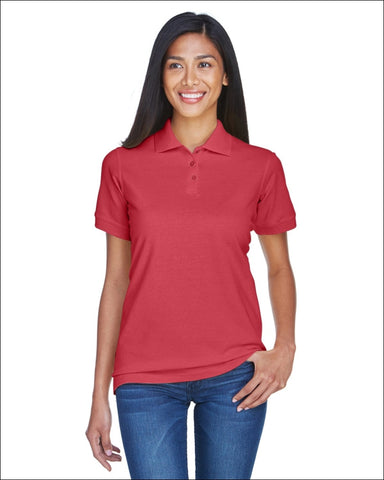 Ladies Classic Piqué Polo - CARDINAL / L - UltraClub 882849488375