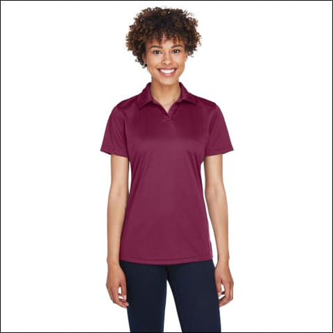 Ladies Cool & Dry Sport Performance Interlock Polo - MAROON / 2XL - UltraClub 00882849475733