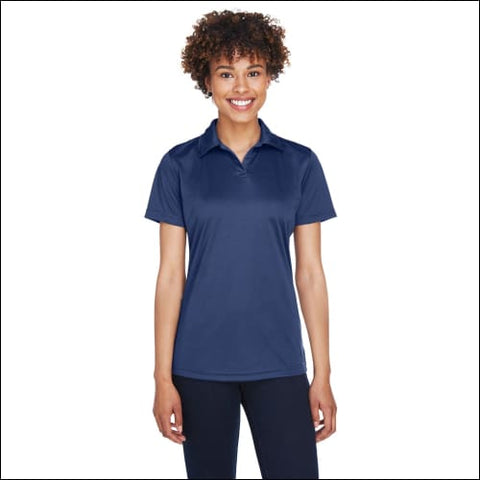 Ladies Cool & Dry Sport Performance Interlock Polo - NAVY / L - UltraClub 00882849475788