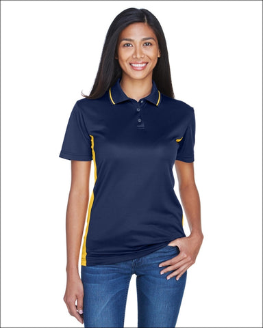 Ladies Cool & Dry Sport Two-Tone Polo - NAVY/ GOLD / M - UltraClub 00882849459214
