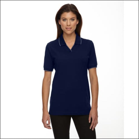 Ladies Cotton Jersey Polo - NAVY / M - Ash City - Extreme 00774582094282