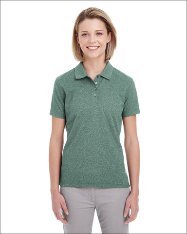 Ladies Heathered Piqué Polo - FOREST GREN HTHR / XL - UltraClub 00882849551598