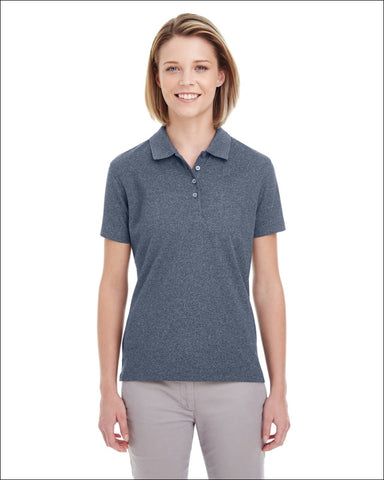 Ladies Heathered Piqué Polo - NAVY HEATHER / XS - UltraClub 00882849551277
