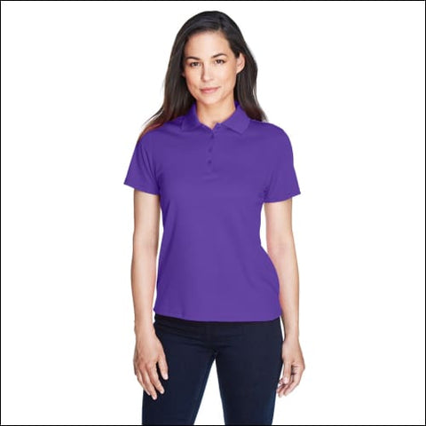 Ladies Origin Performance Piqué Polo - CAMPUS PURPLE / XS - Ash City - Core 365 00774582625707