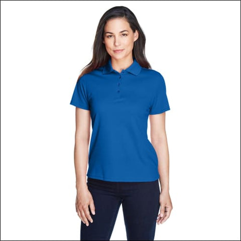 Ladies Origin Performance Piqué Polo - TRUE ROYAL / XS - Ash City - Core 365 00774582625714