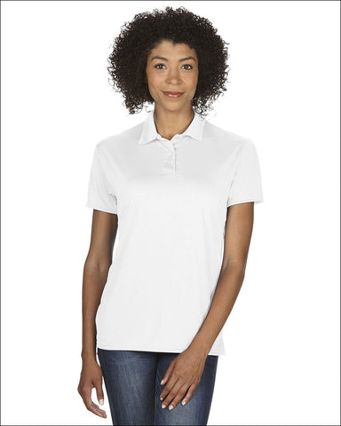 Ladies Performance® 4.7 oz. Jersey Polo - WHITE / S - Gildan 821780031002
