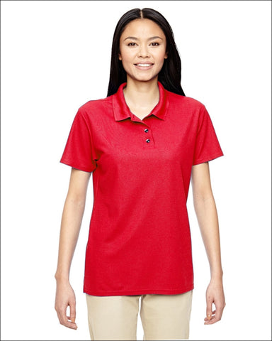 Ladies Performance® 5.6 oz. Double Piqué Polo - RED / S - Gildan 821780031358