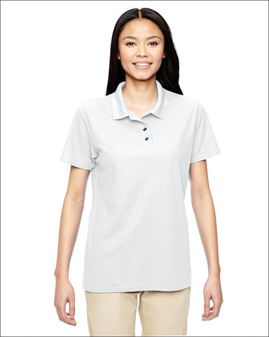 Ladies Performance® 5.6 oz. Double Piqué Polo - WHITE / S - Gildan 821780031370