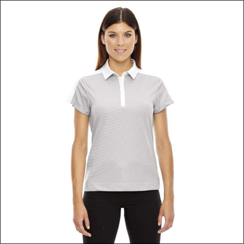 Ladies Symmetry UTK coollogik Coffee Performance Polo - CRYSTAL QUARTZ / 2XL - Ash City - North End 00774582618891