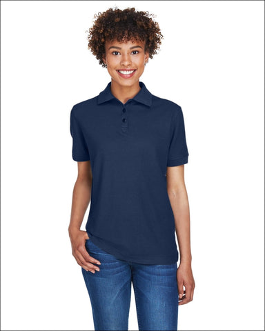Ladies Whisper Piqué Polo - NAVY / XL - UltraClub 882849497223