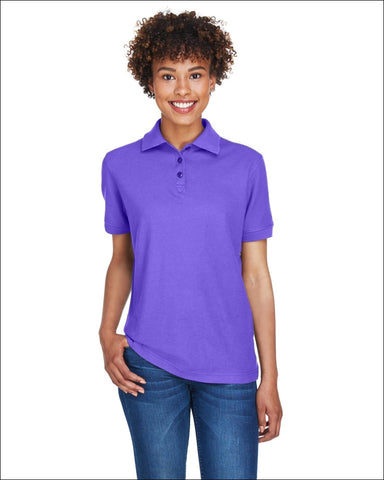 Ladies Whisper Piqué Polo - PURPLE / S - UltraClub 882849497407