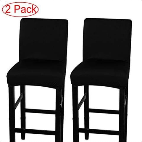 LJNGG 2 Pack Chair Cover Slipcover Counter Stool Covers Dining Room Kitchen Bar Stool Cafe Furniture Chair Seat Cover Stretch Protectors