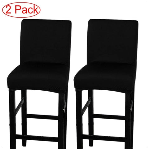 LJNGG 2 Pack Chair Cover Slipcover Counter Stool Covers Dining Room Kitchen Bar - LJNGG 0719889168526