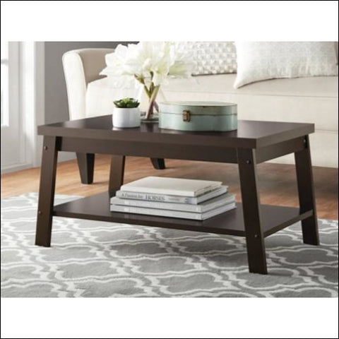 Mainstays Logan Coffee Table Espresso Finishes - Mainstays 0042666034234