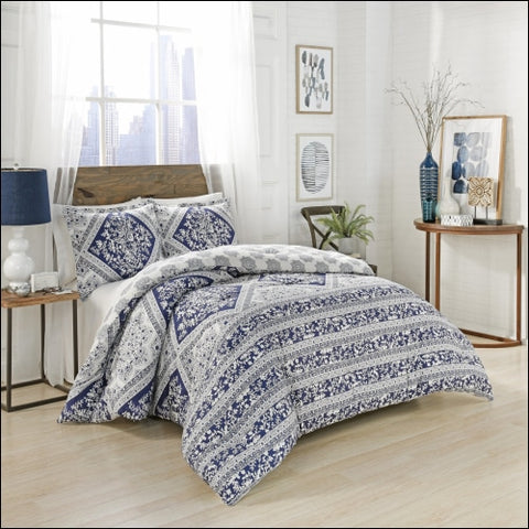 Marble Hill Brielle Reversible 3-Piece Comforter Set - Marble Hill 0885308581501