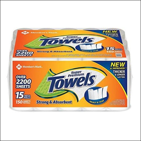 Members Mark Super Premium Paper Towels (15 rolls 150 sheets per roll) - Members Mark 798753238749
