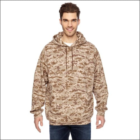 Mens Camo Pullover Hoodie - SAND DIGITAL / S - Code Five 00052987045314