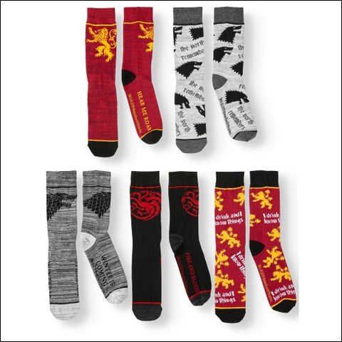 Mens Game of Thrones 5-Pack Socks - Game of Thrones 0693186492907