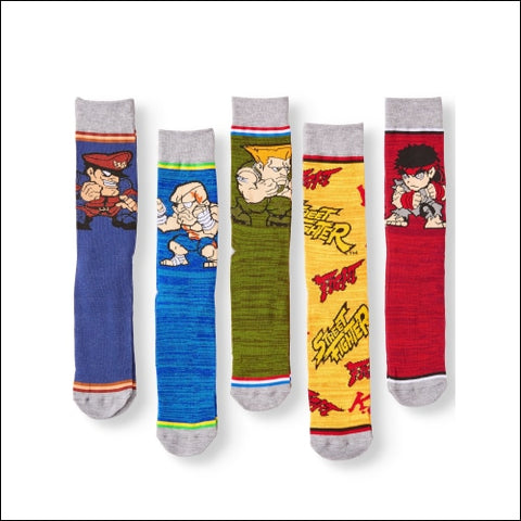 Mens Street Fighter 5-Pack Socks - Street Fighter 0693186563706
