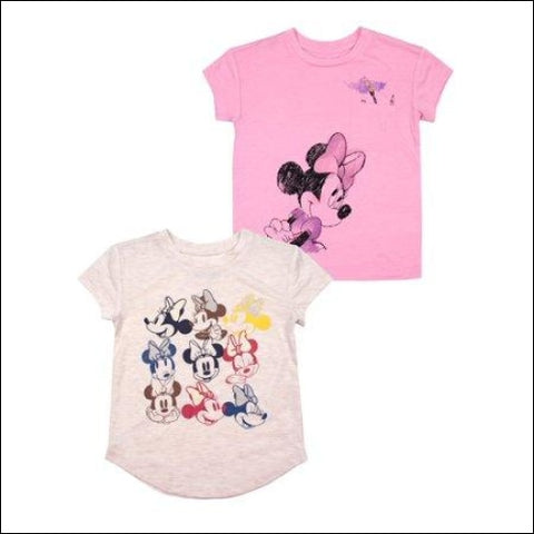 Minnie Mouse Short Sleeve T-Shirts 2-pack (Toddler Girls) - Minnie Mouse 0190716874108