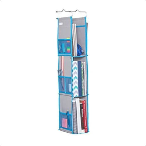 Moditty | Hanging Locker Organizer for School Work Gym Storage | 3 or 2 Shelf | 9x6x38 Inches | Polyester (Blue) - Moditty 0726152325180