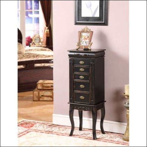 Morris 6-Drawer Shabby Chic Jewelry Armoire - Nathan Direct 0816302010070