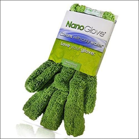 Nano Glove - Green Household Kitchen Cleaning Hand Glove | Replaces Paper Towels Microfiber Wipe Cloths & Feather Dusters | All Purpose