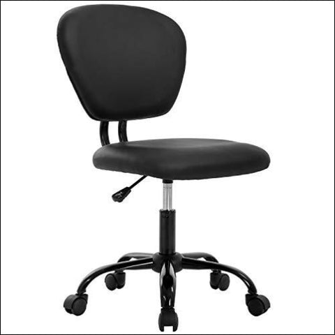 Office Chair Desk Chair Computer Chair Ergonomic Task Rolling Swivel Stool Mid Back Executive Chair for Home&Office Black - BestOffice