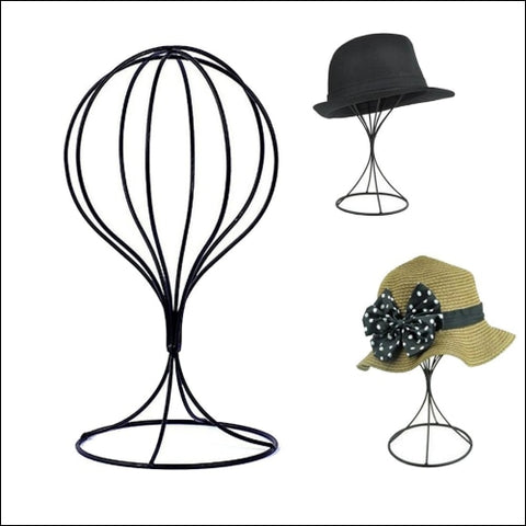 Padshow Freestanding Wire Ball Hat Stand/ Hat Rack / Wig Holder Storage Display - Padshow 0600316030014