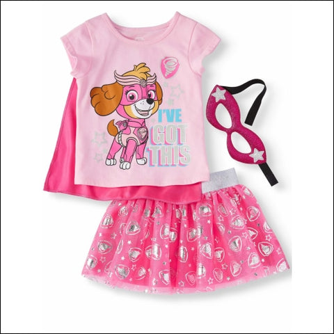 Paw Patrol T-Shirt Tutu Skirt & Headband 3pc Outfit Set (Toddler Girls) - PAW Patrol 0193058017707