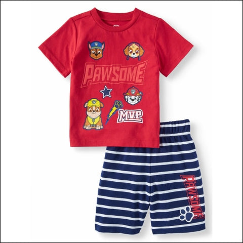 Paw Patrol Toddler Boys T-Shirt and Shorts 2-Piece Outfit Set - PAW Patrol 0193058015710