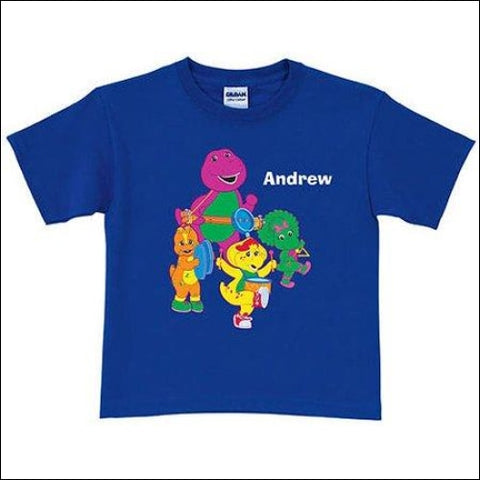 Personalized Barney & Friends Band Toddler Boy T-Shirt - Barney 0639211930228
