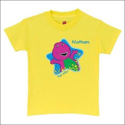 Personalized Barney Tee-riffic Toddler T-Shirt Yellow - Barney & Friends 0639211929857