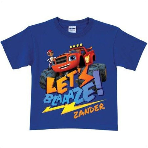 Personalized Blaze and the Monster Machines Blaze Royal Blue Toddler Boy T-Shirt - Blaze and the Monster Machines 0639211437109
