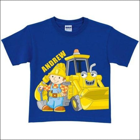 Personalized Bob the Builder Here Goes! Scoop Toddler Royal Blue T-Shirt - Bob the Builder 0639211824077