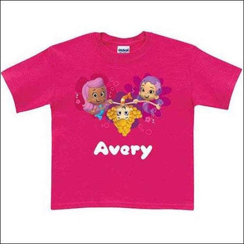 Personalized Bubble Guppies Guppy Toddler Hot Pink T-Shirt - Bubble Guppies 0639211995197