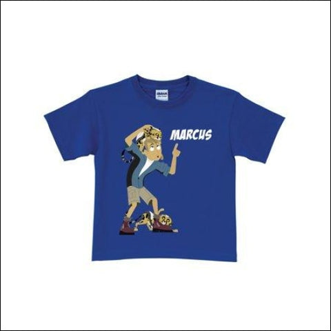 Personalized Cheetah Cubs Royal Blue Toddler Boys T-Shirt - WILD KRATTS 0639211940982