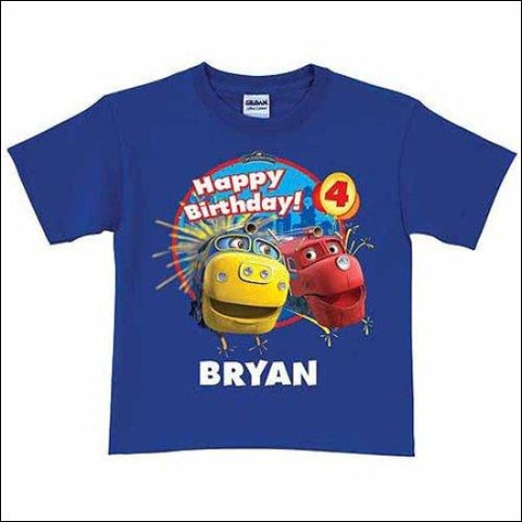 Personalized Chuggington Brewster and Wilson Birthday Toddler Boy T-Shirt Royal Blue - Chuggington 0639211801061