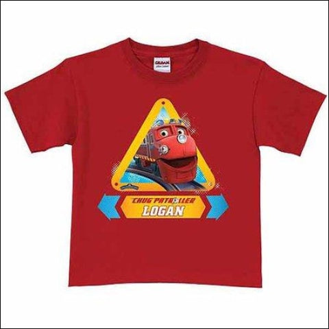 Personalized Chuggington Chug Patrol Wilson Toddler Boy T-Shirt Red - Chuggington 0639211801122