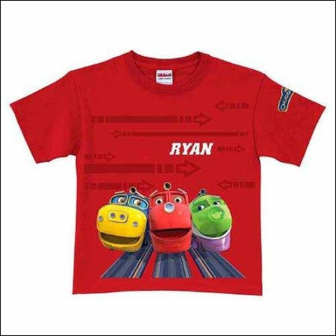 Personalized Chuggington Ridin the Rails Toddler Boy T-Shirt Red - Chuggington 0639211964438