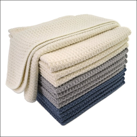 Polyte Premium Microfiber Dishwashing Kitchen Dish Cloth Set 12 x 12 in 12 Pack - Polyte 0855213008141