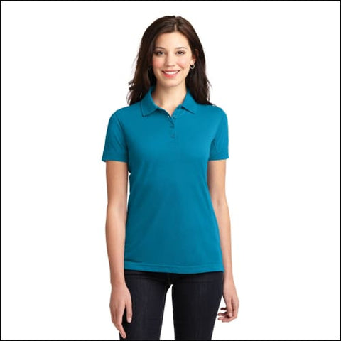 Port Authority Ladies 5-in-1 Performance Pique Polo. L567 - Blue Wake / XS - Port Authority 191265213011