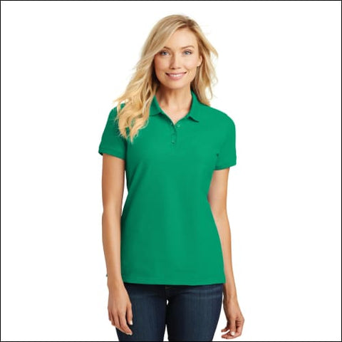 Port Authority Ladies Core Classic Pique Polo. L100 - Brt Kelly Grn / 5XL - Port Authority 191265419109